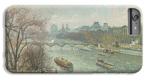 Louvre iPhone 6s Plus Case - The Louvre, Afternoon, Rainy Weather, 1900  by Camille Pissarro