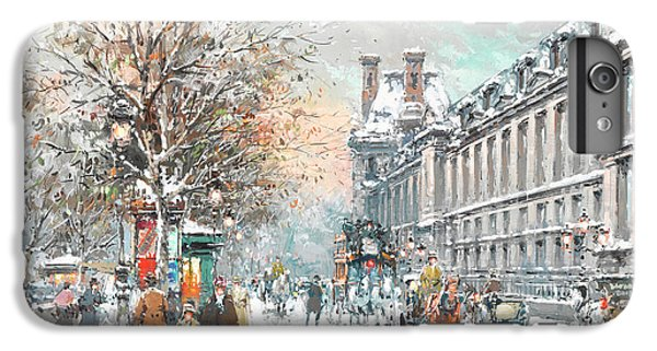 Louvre iPhone 6s Plus Case - The Louvre-winter by Antoine Blanchard