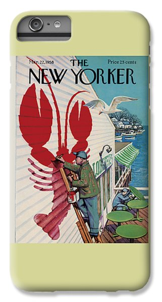 Food And Beverage iPhone 6s Plus Case - The New Yorker Cover - March 22nd, 1958 by Arthur Getz