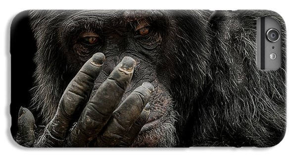 Chimpanzee iPhone 6s Plus Case - The Palm Reader by Paul Neville