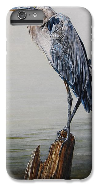 Egret iPhone 6s Plus Case - The Sentinel - Portrait Of A Great Blue Heron by Dreyer Wildlife Print Collections