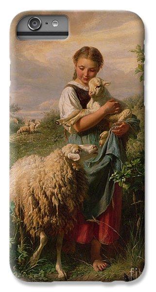 Sheep iPhone 6s Plus Case - The Shepherdess by Johann Baptist Hofner