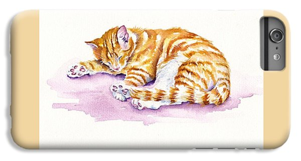 Cat iPhone 6s Plus Case - The Sleepy Kitten by Debra Hall