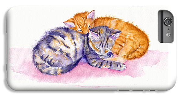 Cat iPhone 6s Plus Case - The Sleepy Kittens by Debra Hall