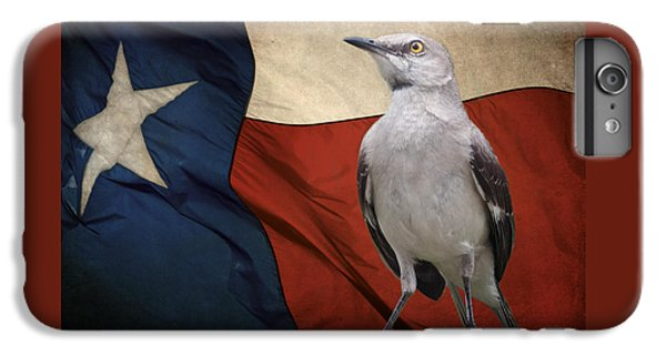 Mockingbird iPhone 6s Plus Case - The State Bird Of Texas by David and Carol Kelly