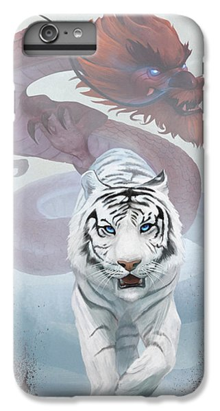 Dragon iPhone 6s Plus Case - The Tiger And The Dragon by Steve Goad