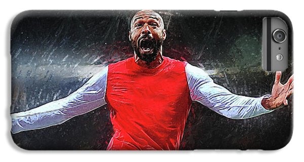 Thierry Henry IPhone 6s Plus Case by Semih Yurdabak