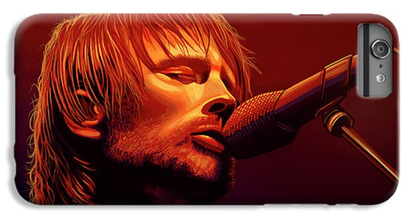 Drum iPhone 6s Plus Case - Thom Yorke Of Radiohead by Paul Meijering