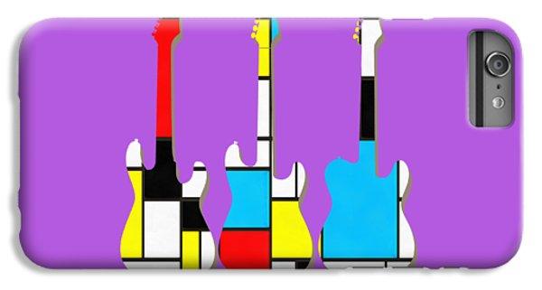 Guitar iPhone 6s Plus Case - Three Guitars Modern Tee by Edward Fielding