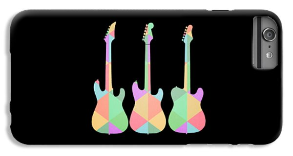 Three Guitars Triangles Tee IPhone 6s Plus Case by Edward Fielding