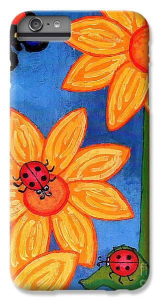 Three Ladybugs And Butterfly IPhone 6s Plus Case