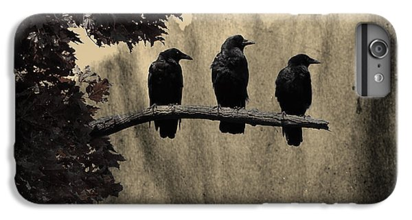 Starlings iPhone 6s Plus Case - Three Ravens Branch Out by Gothicrow Images