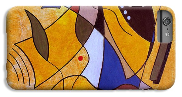 Abstract iPhone 6s Plus Case - Three White Petals by Ruth Palmer