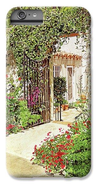 Beverly Hills iPhone 6s Plus Case - Through The Garden Gate by David Lloyd Glover