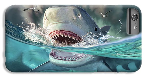 Seagull iPhone 6s Plus Case - Tiger Sharks by Jerry LoFaro