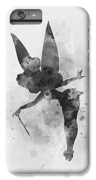 Fairy Dust iPhone 6s Plus Case - Tinker Bell Black And White by My Inspiration