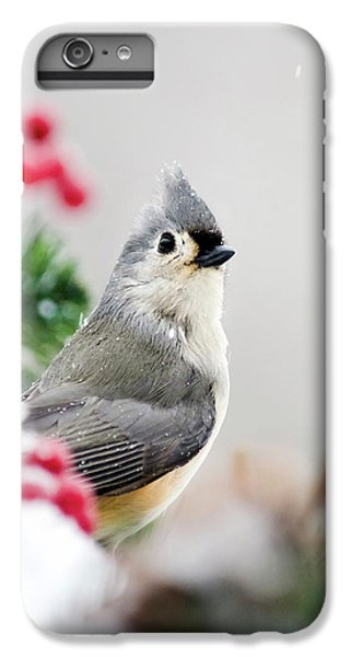Titmouse Bird Portrait IPhone 6s Plus Case by Christina Rollo