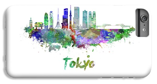 Tokyo V3 Skyline In Watercolor IPhone 6s Plus Case by Pablo Romero