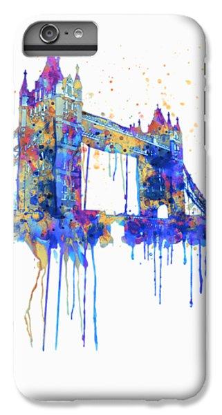 Tower Bridge Watercolor IPhone 6s Plus Case by Marian Voicu