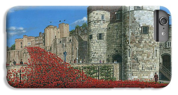 Tower Of London Poppies - Blood Swept Lands And Seas Of Red  IPhone 6s Plus Case by Richard Harpum