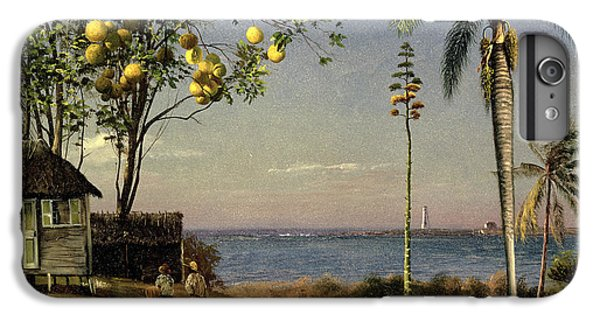 Grapefruit iPhone 6s Plus Case - Tropical Scene by Albert Bierstadt