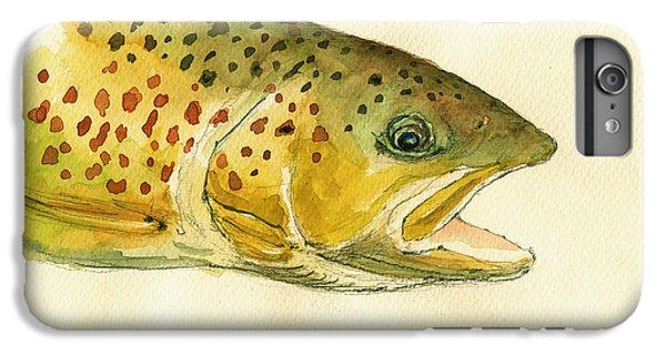 Trout Watercolor Painting IPhone 6s Plus Case by Juan  Bosco