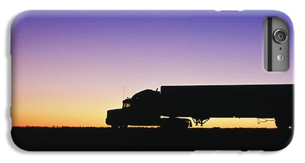 Truck iPhone 6s Plus Case - Truck Parked On Freeway At Sunrise by Jeremy Woodhouse