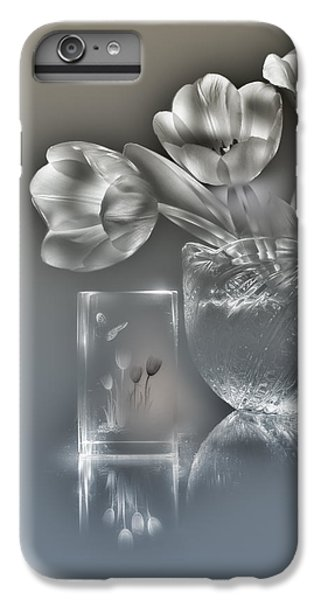 Tulips, Silver Variant IPhone 6s Plus Case