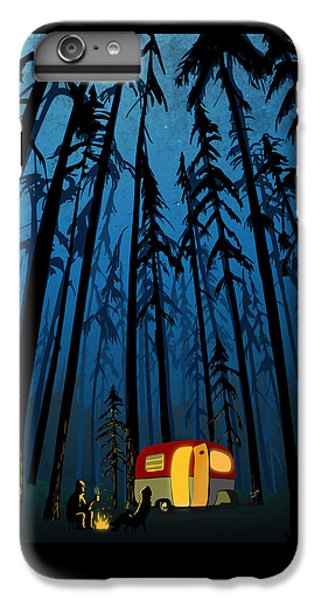 Wood iPhone 6s Plus Case - Twilight Camping by Sassan Filsoof