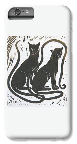 Two Black Felines IPhone 6s Plus Case