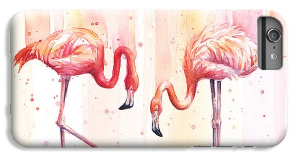 Two Flamingos Watercolor IPhone 6s Plus Case