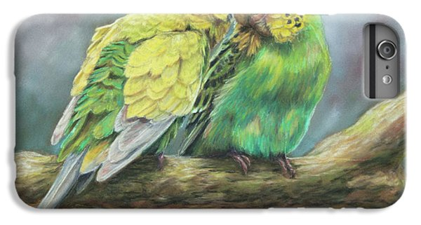 Parakeet iPhone 6s Plus Case - Two Of A Kind by Kirsty Rebecca
