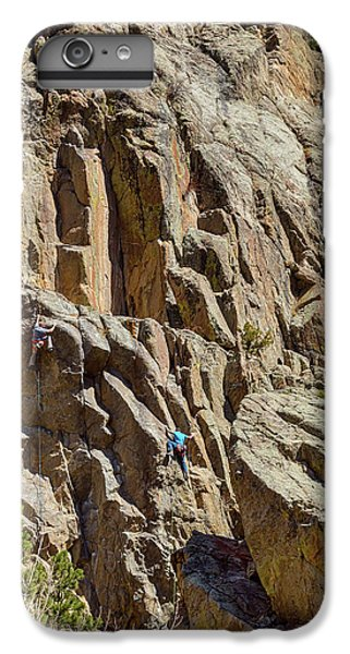 IPhone 6s Plus Case featuring the photograph Two Rock Climbers Making Their Way by James BO Insogna