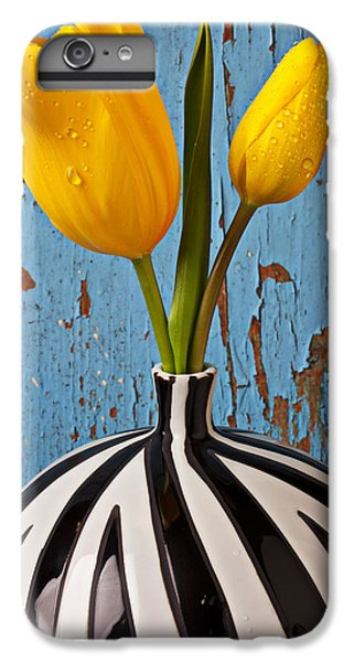 Tulip iPhone 6s Plus Case - Two Yellow Tulips by Garry Gay