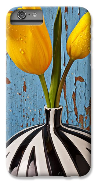 Wood iPhone 6s Plus Case - Two Yellow Tulips by Garry Gay