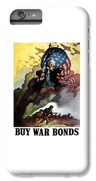 Landmarks iPhone 6s Plus Case - Uncle Sam - Buy War Bonds by War Is Hell Store