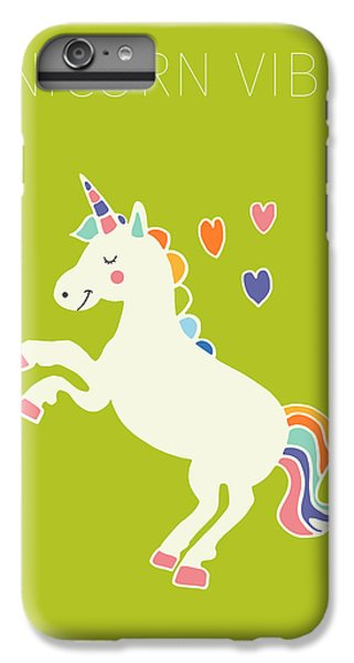 Unicorn Vibes IPhone 6s Plus Case by Nicole Wilson