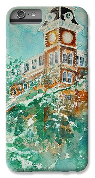University Of Arkansas iPhone 6s Plus Case - Ice On Old Main by Robin Miller-Bookhout