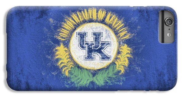 IPhone 6s Plus Case featuring the digital art University Of Kentucky State Flag by JC Findley