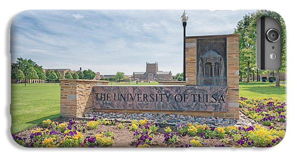 Oklahoma University iPhone 6s Plus Case - University Of Tulsa Mcfarlin Library by Roberta Peake