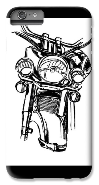 Urban Drawing Motorcycle IPhone 6s Plus Case by Chad Glass