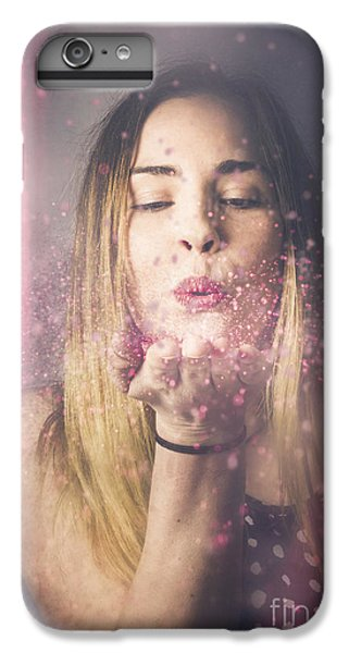 Fairy Dust iPhone 6s Plus Case - Valentine Girl Making Wish Kiss by Jorgo Photography - Wall Art Gallery