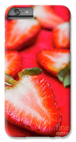 Strawberry iPhone 6s Plus Case - Various Sliced Strawberries Close Up by Jorgo Photography - Wall Art Gallery