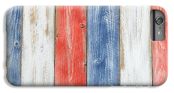Vertical Stressed Boards Painted In Usa National Colors IPhone 6s Plus Case by Thomas Baker