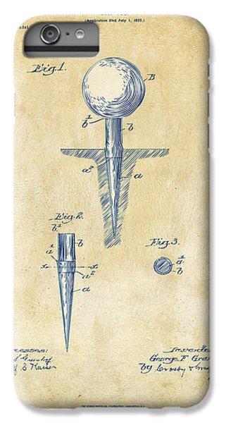 Vintage 1899 Golf Tee Patent Artwork IPhone 6s Plus Case