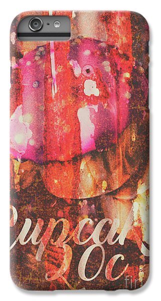Fairy Cake iPhone 6s Plus Case - Vintage Cupcake Tin Sign by Jorgo Photography - Wall Art Gallery