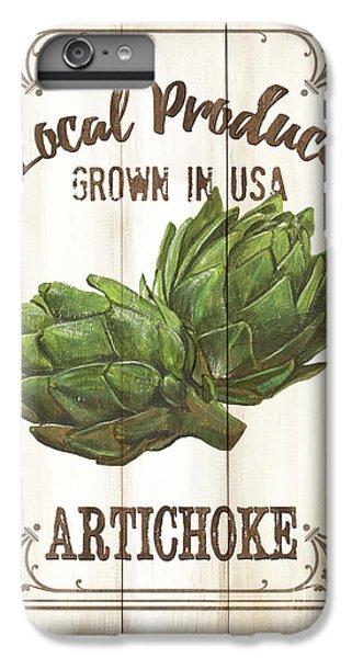 Artichoke iPhone 6s Plus Case - Vintage Fresh Vegetables 2 by Debbie DeWitt