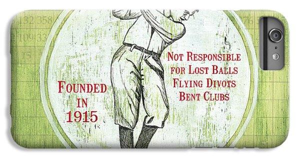 Vintage Golf Green 2 IPhone 6s Plus Case by Debbie DeWitt