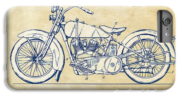 Motorcycle iPhone 6s Plus Case - Vintage Harley-davidson Motorcycle 1928 Patent Artwork by Nikki Smith