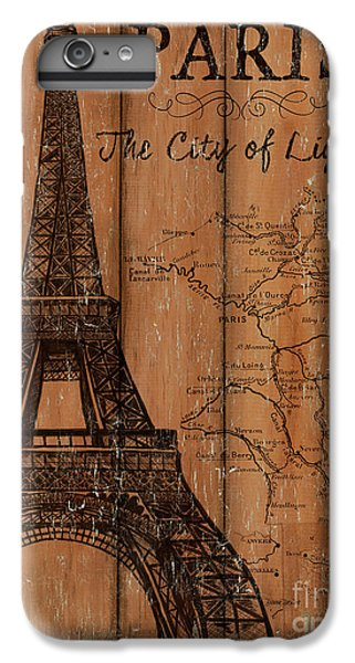 Eiffel Tower iPhone 6s Plus Case - Vintage Travel Paris by Debbie DeWitt